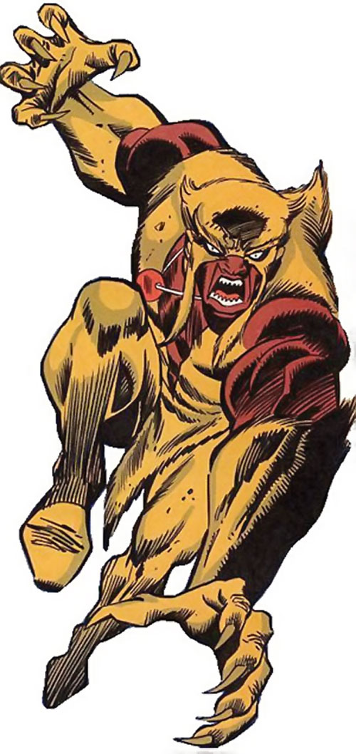 Mongoose (Thor enemy) (Marvel Comics) leaping into battle