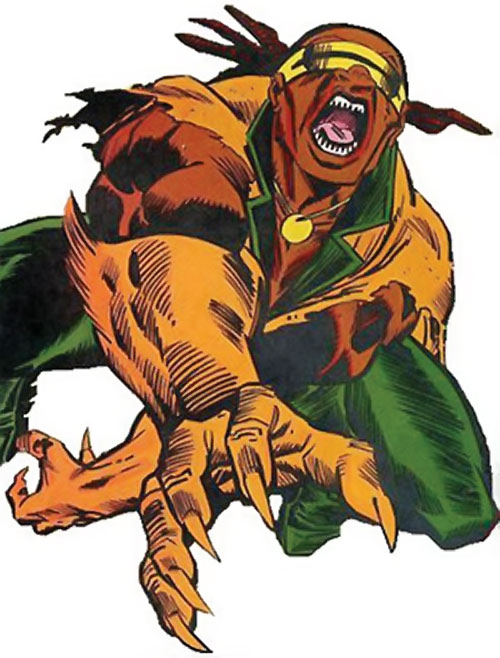 Mongoose (Thor enemy) (Marvel Comics) in green with a visor