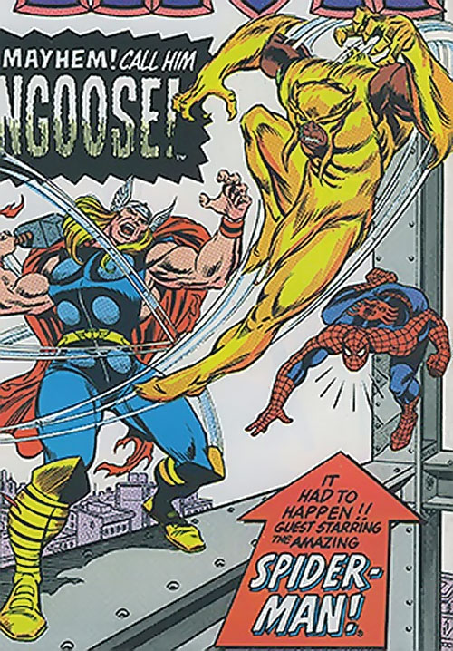 Mongoose (Marvel Comics) vs. Thor and Spider-Man