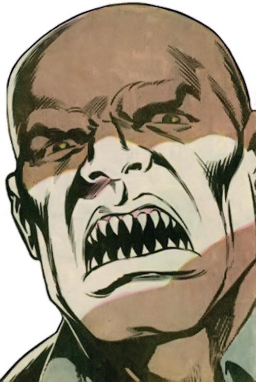 Mongoose (Thor enemy) (Marvel Comics) unmasked face closeup