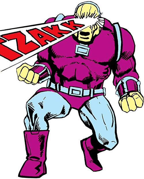 Mongul (Superman enemy) (Pre-Crisis DC Comics) firing eye beams