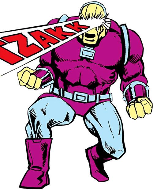 Mongul (Superman enemy) (Pre-Crisis DC Comics) firing eye beams