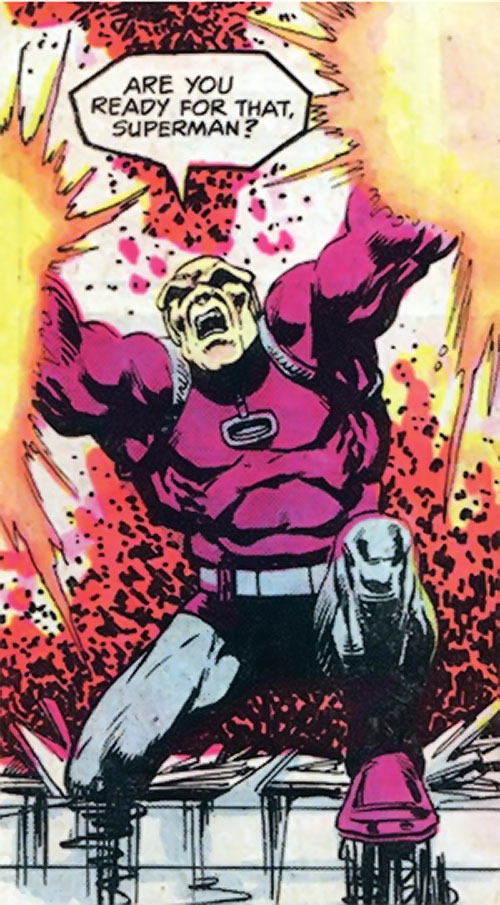 Mongul (Superman enemy) (Pre-Crisis DC Comics) shooting energy blasts from his hands