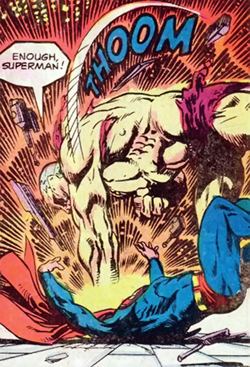 Mongul (Superman enemy) (Pre-Crisis DC Comics) mauling Superman