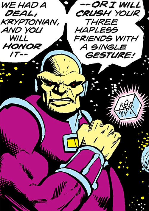Mongul (Superman enemy) (Pre-Crisis DC Comics) in space