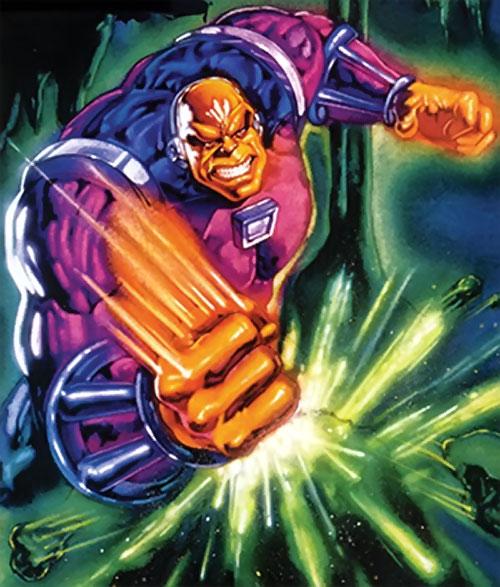Mongul (Superman enemy) (Pre-Crisis DC Comics) painted trading card