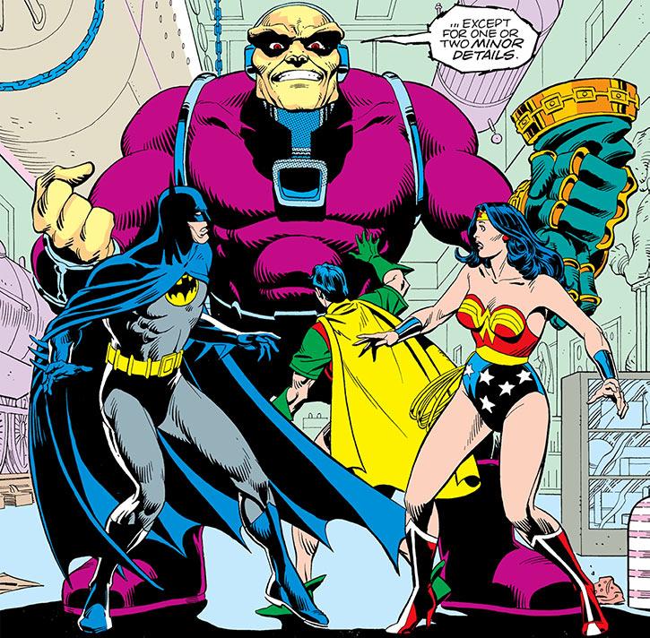 Mongul (DC Comics) vs Batman, Robin, Wonder Woman (Alan Moore story)