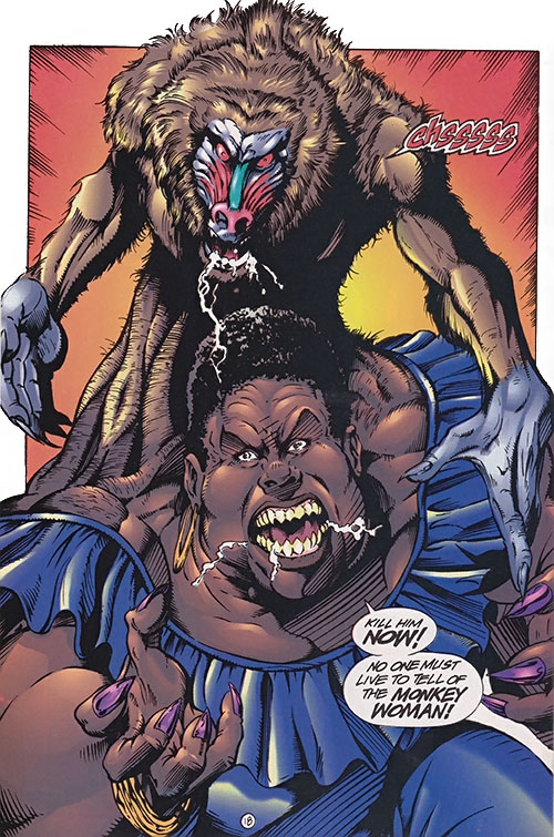 Monkey Woman (Ultraverse Malibu comics) (Solitaire enemy)