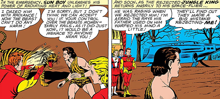 The Legion of Super Heroes rejects the Jungle King