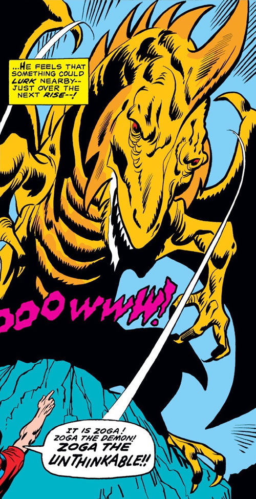 Zoga the robot dragon (Iron Man enemy) (Marvel Comics)