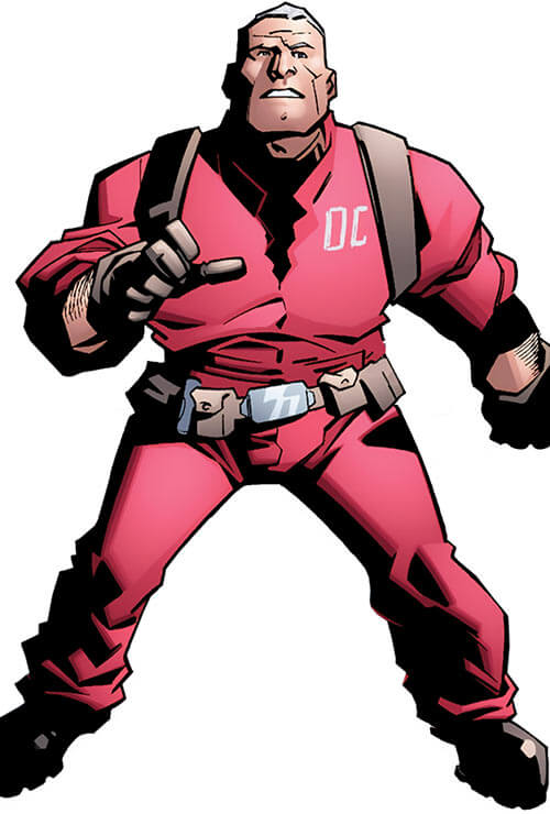Monstro (Marvel Comics) in a Damage Control jumpsuit