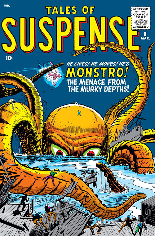 Monstro the giant octopus (Marvel Comics) Tales of Suspense cover