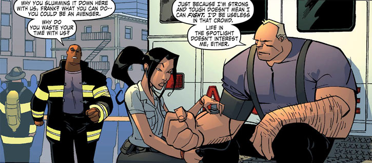 Monstro (Marvel Comics) with NYFD colleagues