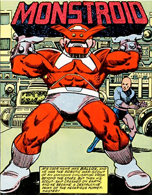 Monstroid aka Ballox (Marvel Comics) splash page