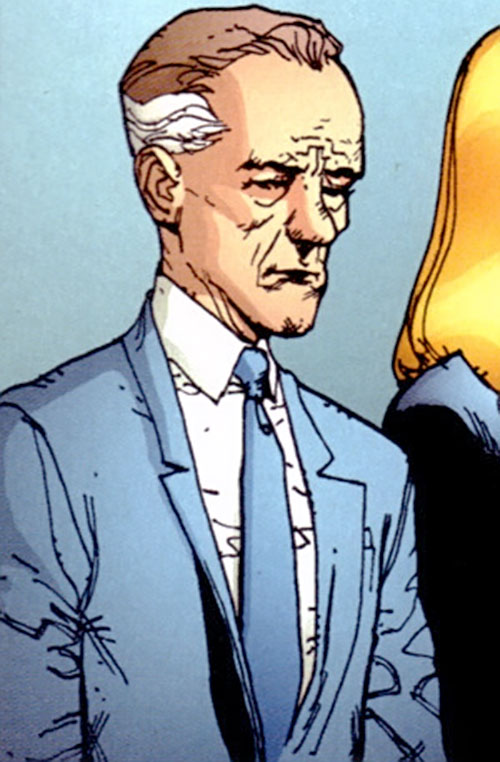 Doctor Shaw aka the Monstrosity of Stormwatch PHD (Wildstorm Comics) in a blue suit