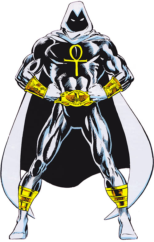 Moon Knight (Marvel Comics) - costume with the golden gear