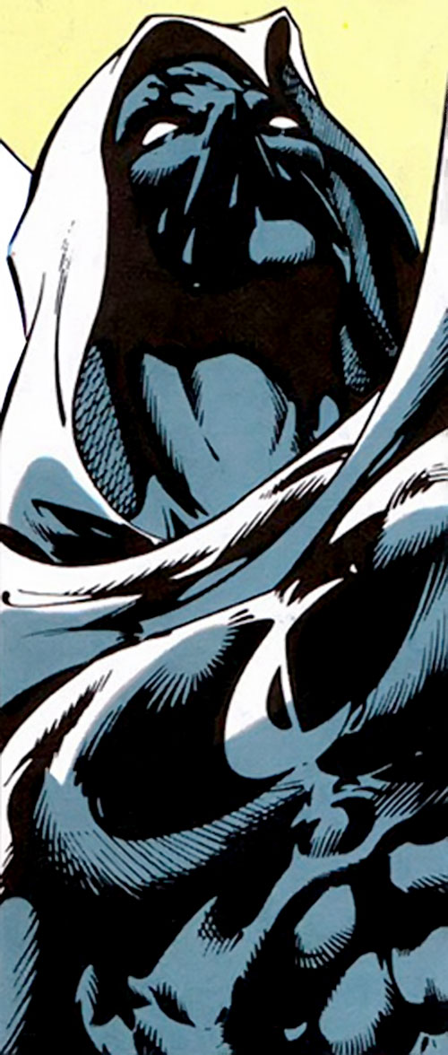 Moon Knight (Marvel Comics) low angle portrait