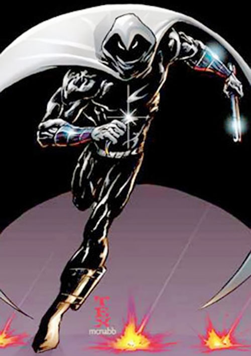 Moon Knight (Marvel Comics) with gleaming equipment