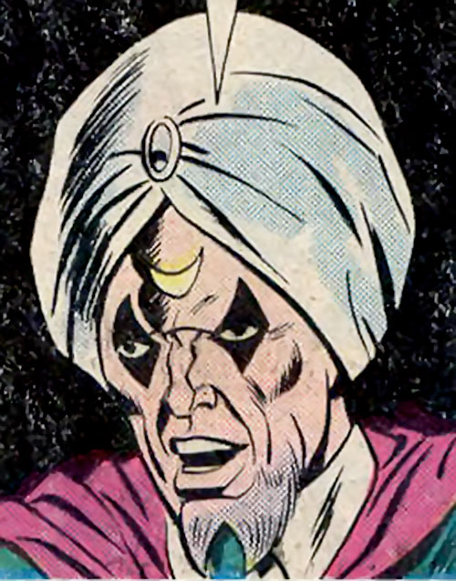 Moondark (Ghost Rider enemy) (Marvel Comics) face closeup
