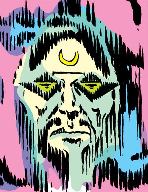 Moondark (Ghost Rider enemy) (Marvel Comics) astral face projection