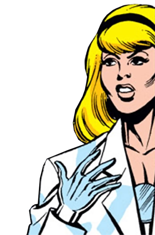Moonstone (Avengers enemy classic) (Marvel Comics) in a lab coat