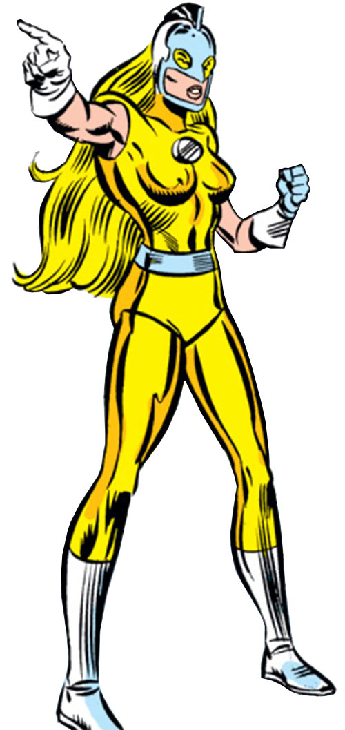 Moonstone (Avengers enemy classic) (Marvel Comics) pointing
