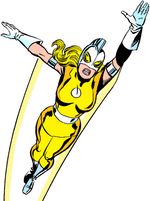 Moonstone (Avengers enemy classic) (Marvel Comics) flying