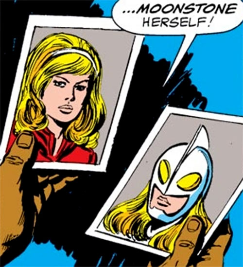 Moonstone (Avengers enemy classic) (Marvel Comics) ID photos