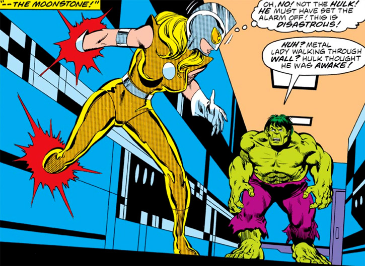 Moonstone (Karla Sofen) stumbles upon the Hulk