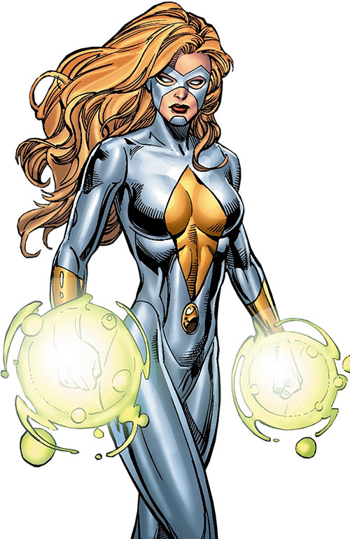 Moonstone (Karla Sofen) (Marvel Comics) white costume by Sean Chen