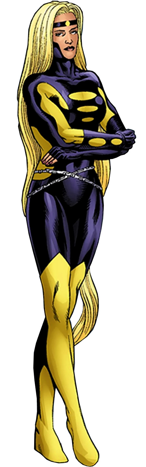 Moonstone / Meteorite of the Thunderbolts (Marvel Comics) yellow and deep purple costume
