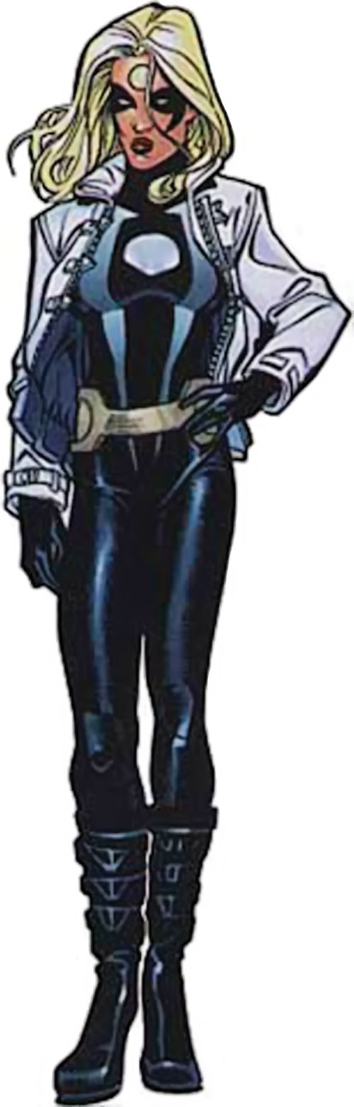 Moonstone / Meteorite of the Thunderbolts (Marvel Comics) black costume with white jacket