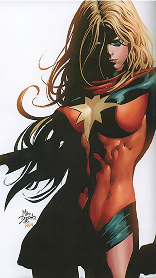 Moonstone / Meteorite of the Thunderbolts (Marvel Comics) as Ms. Marvel of the Dark Avengers by Deodato