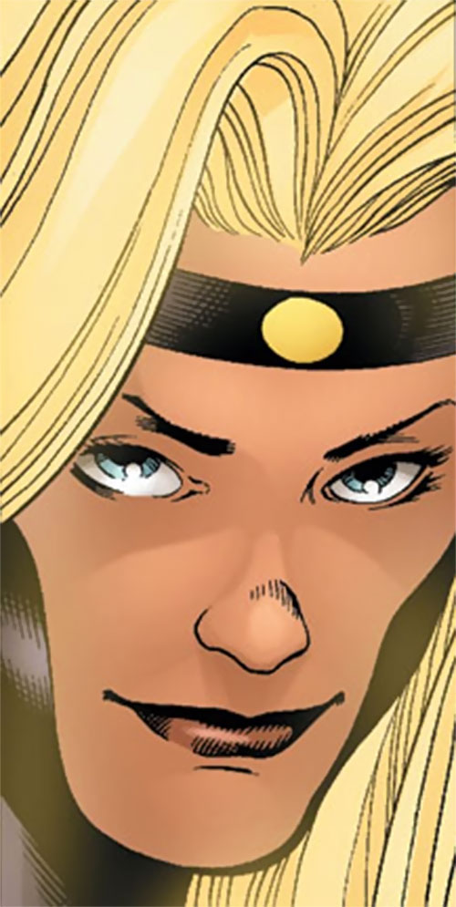 Moonstone / Meteorite of the Thunderbolts (Marvel Comics) face closeup with thin back headband