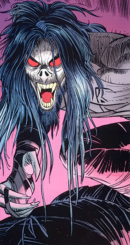 Morbius the Living Vampire (Marvel Comics) (Modern) with long hair