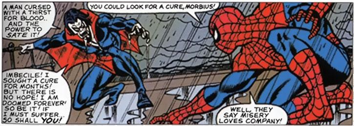Classic Morbius vs. Spider-Man