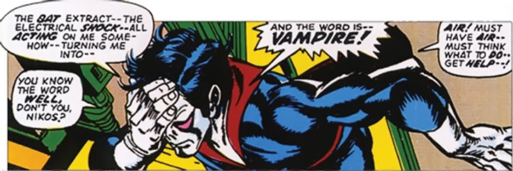 Morbius turned into a vampire