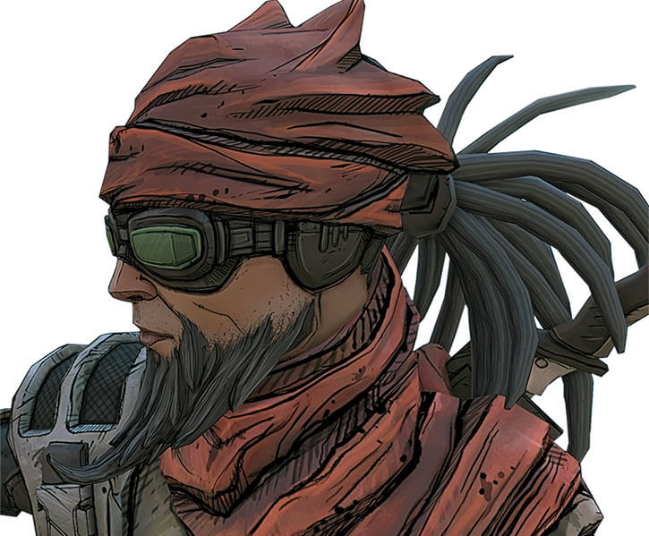 Mordecai portrait from Borderlands 2