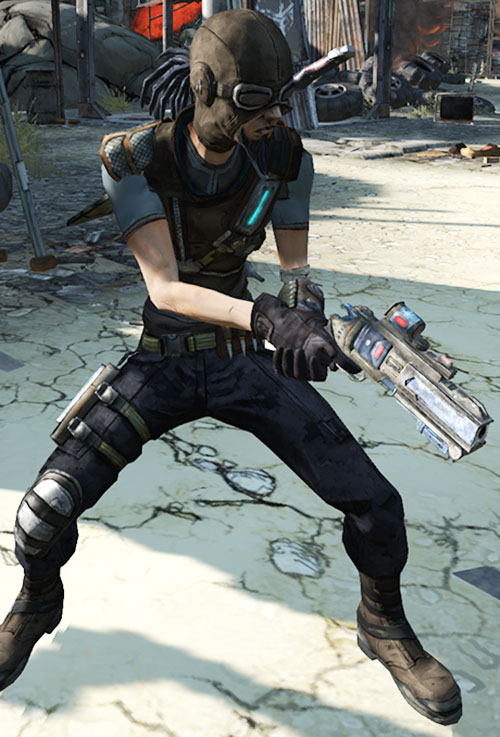 Mordecai the Hunter (Borderlands) with a big revolver