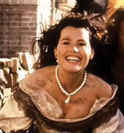 Morgan Adams (Geena Davis in Cutthroat Island) laughing