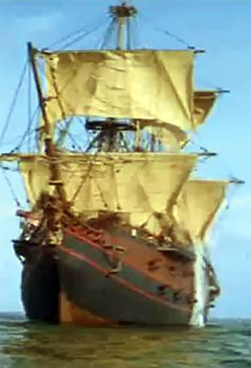 Large pirate ship in Cutthroat Island