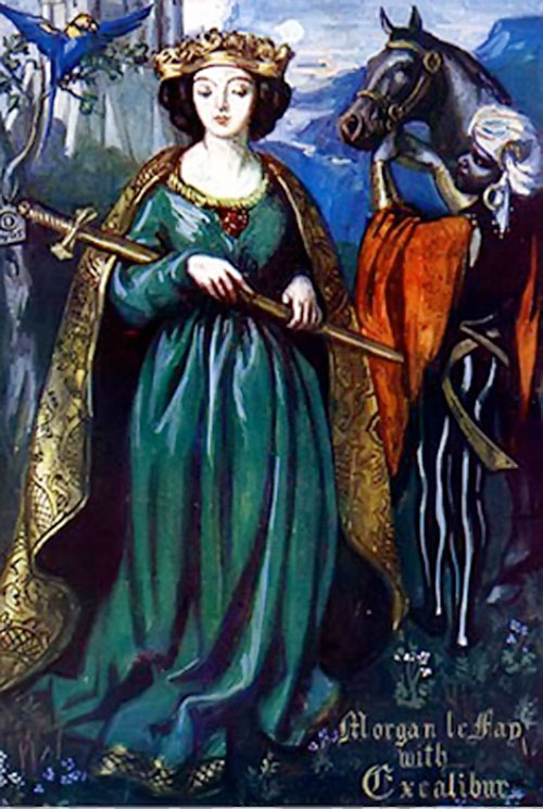 Morgan le Fay medieval depiction