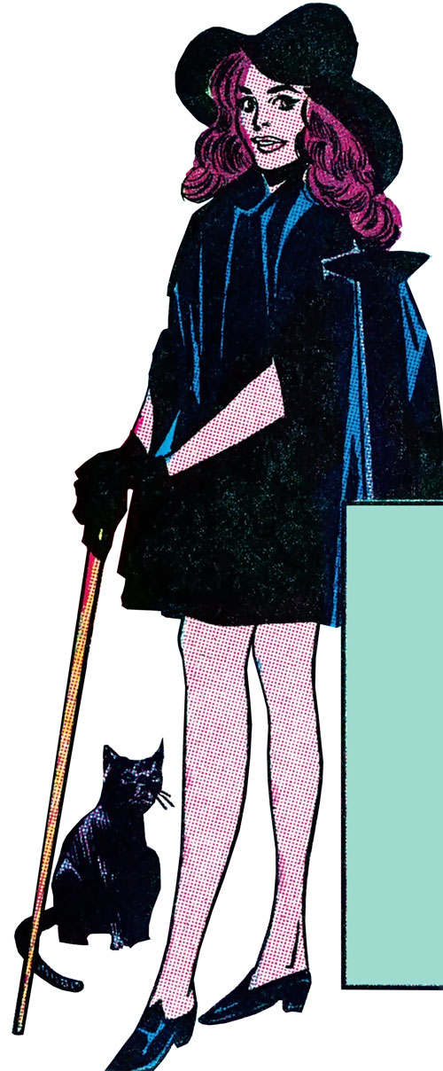 Morgana the Witch (Wonder Woman character) (DC Comics) in a black minidress