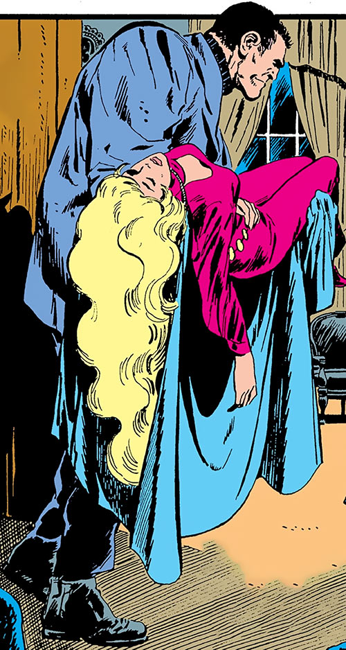 Morgg (Phantom Stranger enemy) (DC Comics) in a bad grey suit