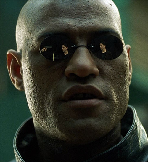 Morpheus (Laurence Fishburne) with his reflective sunglasses