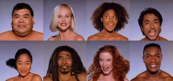 Morphing models from Michael Jackson's Black or White music vide