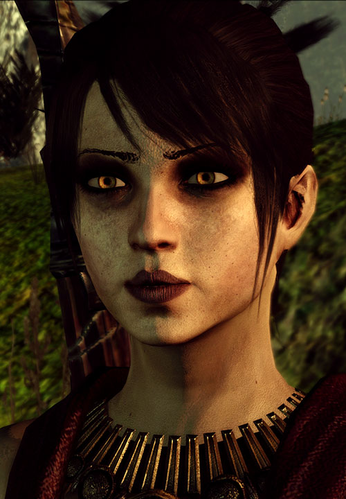 Morrigan (Dragon Age: Origins) unwashed skin