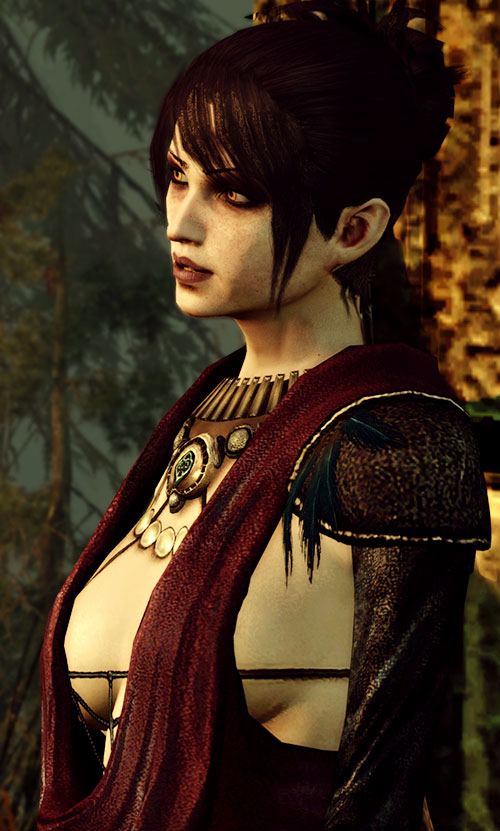 Morrigan (Dragon Age: Origins) side view