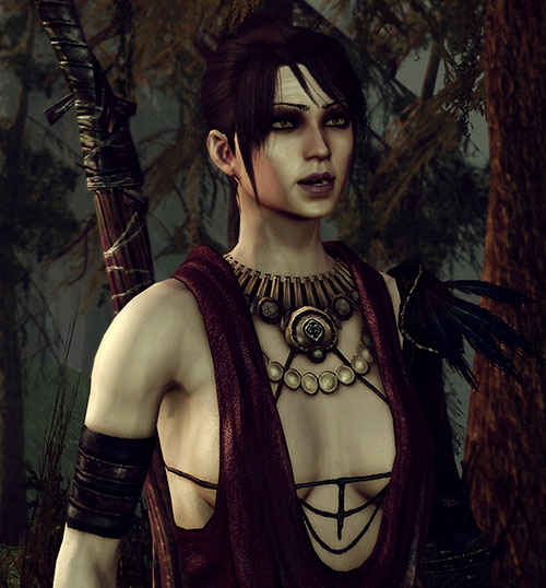 Morrigan (Dragon Age: Origins) in the swamp