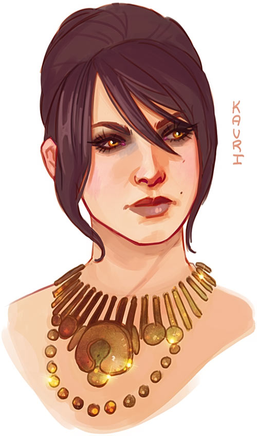 Morrigan portrait - Dragon Age - kauriart.tumblr.com